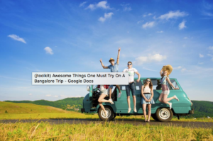 Awesome Things One Must Try on A Bangalore Trip